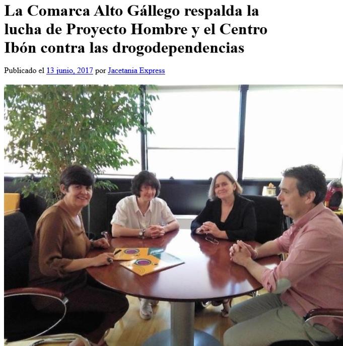 Con la Presidenta de la Comarca del Alto Gallego Dña. Lourdes Arruebo.