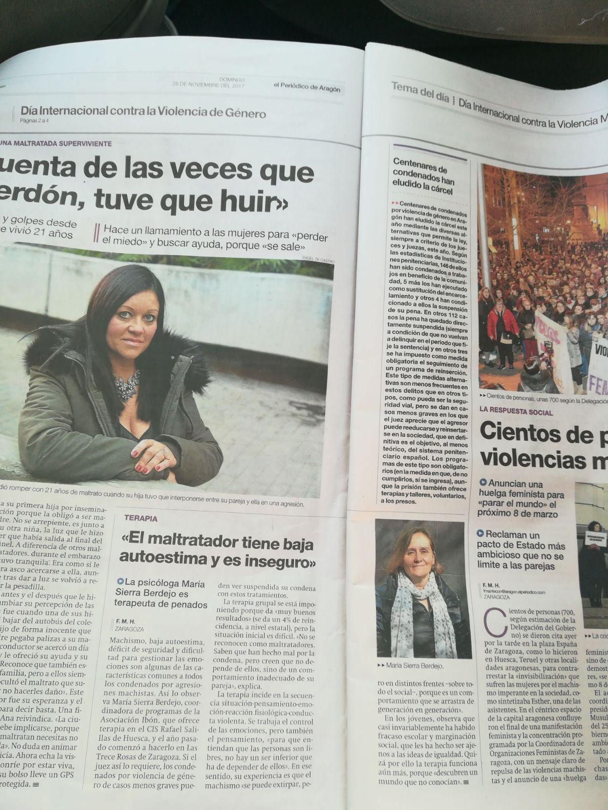 Jornadas sobre Violencia de Género de la Diputación Provincial de Zaragoza. 27 de noviembre de 2017.